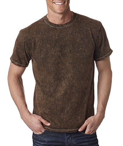 Tie Dye 1300 Adult Vintage Washed Heavy Cotton Tee, Brown...