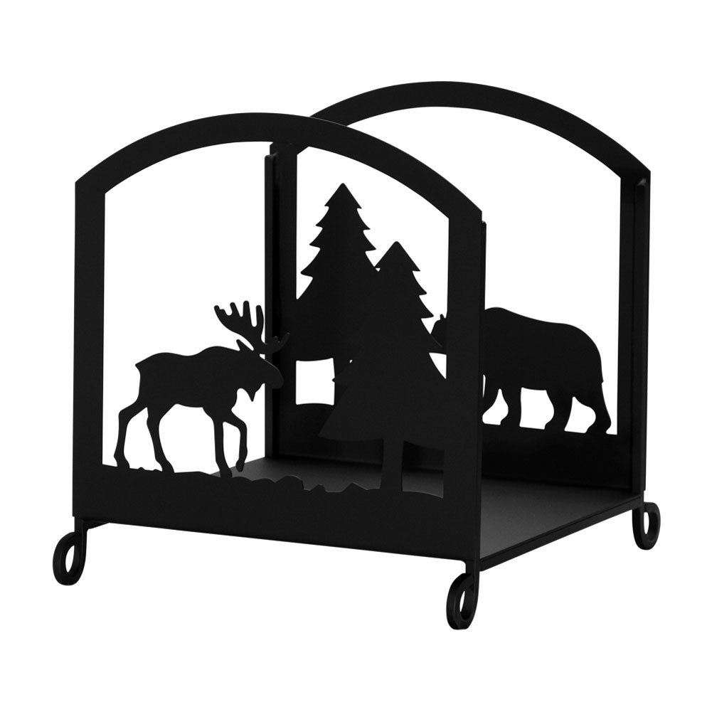 amazon com iron bear u0026 moose fireplace indoor firewood rack