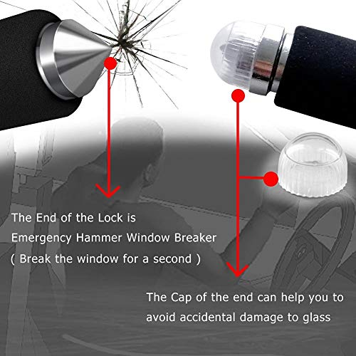 YOUNGFLY Car Steering Wheel Lock Foldable Car Security Lock with 3 Keys Emergency Tool Anti-Theft for SUV Auto by YOUNGFLY (Image #8)