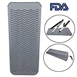 Heat Resistant Mat Pouch for Curling Irons, Hair Straightener, Flat Irons and Hair