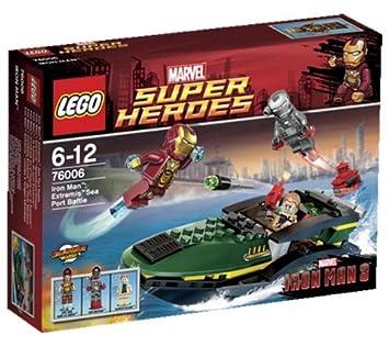 lego super heroes marvel 76006 jeu de construction la bataille du port - Jeux D Iron Man
