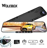 WOLFBOX 12'' 1296P Mirror Dash Cam Front and Rear