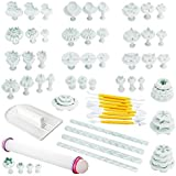 Fu Store 21 Sets (68pcs) Yellow Engraving Pen Cake Decration Tool Set By Catalina Fondant Cutter Mold Sugarcraft Icing Decorating Flower Modelling Tools (Yellow)