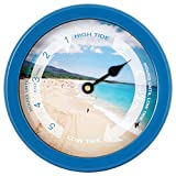 JUSTIME 8.5 Inch Atlantic Tide Clock Colorful Digital Graphics Designed, Quality Plastic Water Resistant Case, Home Wall Décor (TT023-Beach Blue)