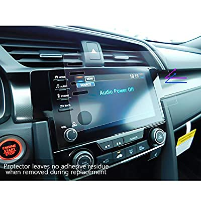 LFOTPP Fit for 2020 2020 Civic LX EX Touring Si EX-L 4 Buttons Control Screen Protectors, PET Plastic Center Touch HD Crystal Clear in-Dash Stereo Protective Film (4 Buttons Film) 2PCS