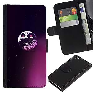 Protector de cuero de la PU de la cubierta del estilo de la carpeta del tirón BY RAYDREAMMM - Apple Iphone 6 - Saw Evil Luna