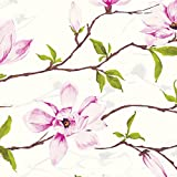 Jillson Roberts Designer Printed Tissue, Magnolia Blossom, 24-Sheet Count (PT159)