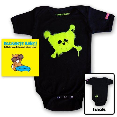 Price comparison product image Rockabye Baby! Lullaby Renditions of Elton John + Organic Baby Bodysuit (Green)