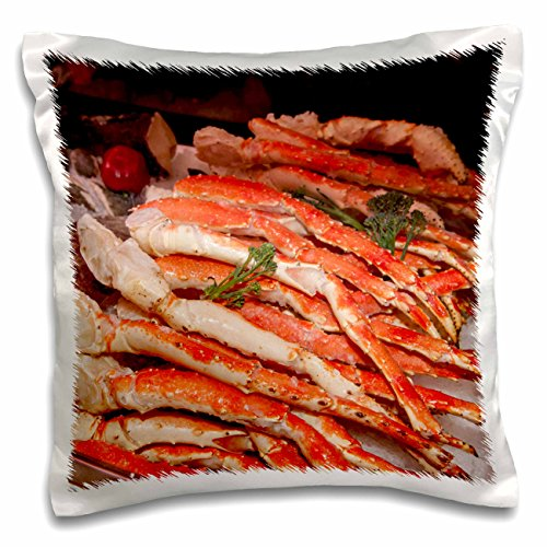 3dRose pc_144675_1 Use, Massachusetts, Boston, Market King Crab Legs Us22 Jen0084 Jim Engel Brecht Pillow Case, 16