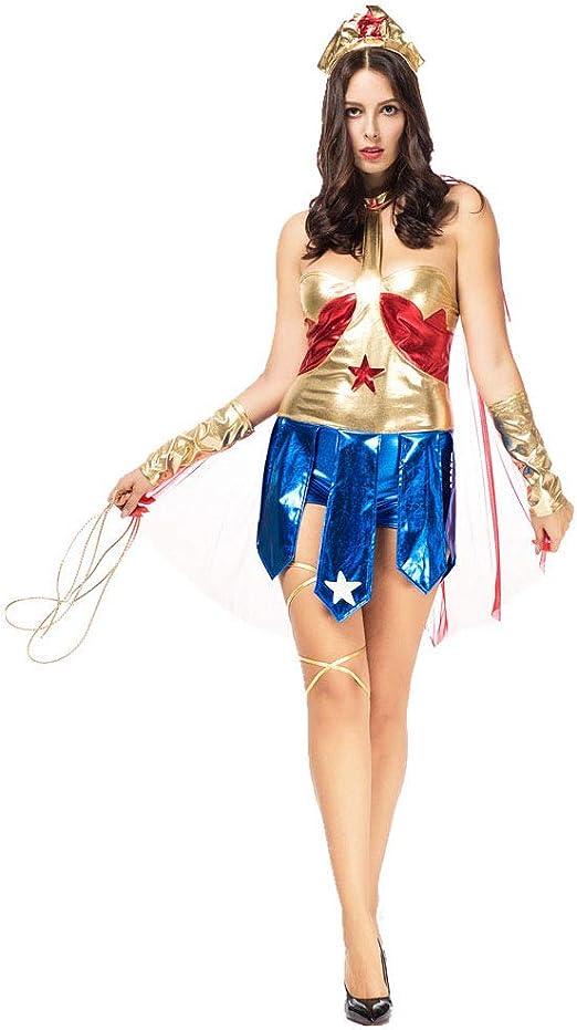 LVLUOYE Halloween Comic Héroe Personaje Jugando Uniforme, Wonder ...