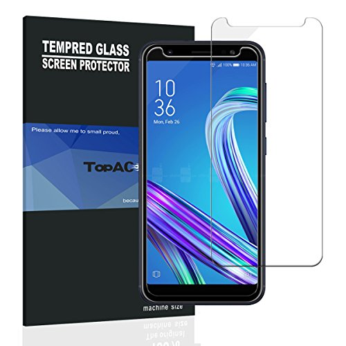 - Asus Zenfone Max M1 ZB555KL Screen Protector, TopACE Asus Zenfone Max M1 ZB555KL Tempered Glass 9H Hardness [Case Friendly][Anti-Scratch][Bubble Free] for Asus Zenfone Max M1 ZB555KL (2 Pack)