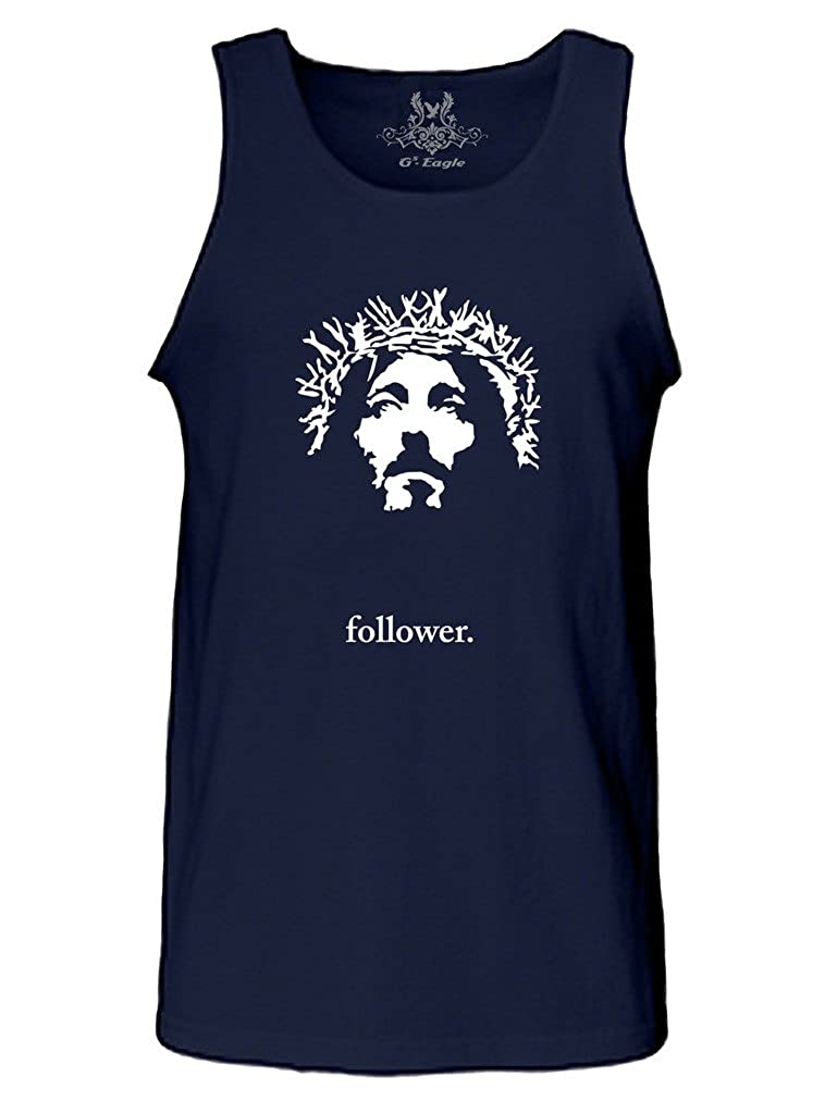 Gs-eagle Mens M0254TT Jesus Face with Follower Tank Top