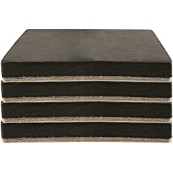 """Felt 5"""" Heavy Furniture Movers for Hard Surfaces (4 pieces) - Tan, 5"""" Square SuperSliders"""