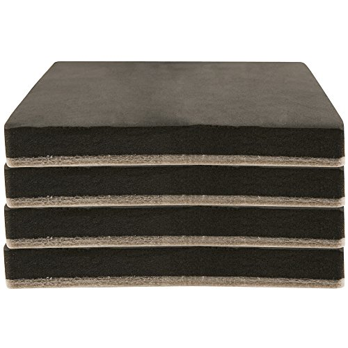 Felt 5' Heavy Furniture Movers for Hard Surfaces (4 pieces) - Tan, 5' Square SuperSliders