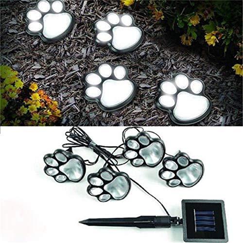 Print Decor Art Garden - ️ Yu2d ❤️❤️ ️Hot 4 Solar Dog Cat Animal Paw Print Lights Garden Outdoor LED Path Lamp Auto On