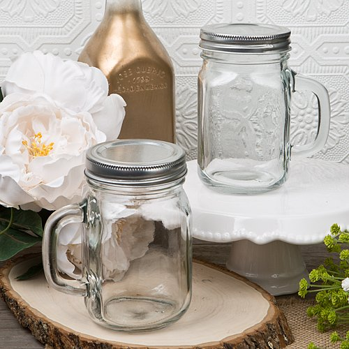 FavorOnline 12 Ounce Glass Mason Jar with Handle, 40