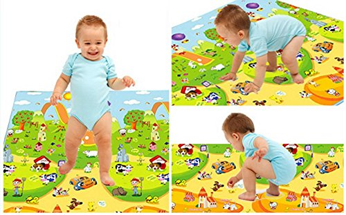 Baby Playing Mat Ocean Animal Crawling Floor Pad with Carring Bag [US Stock] (2) by Rateim (Image #5)