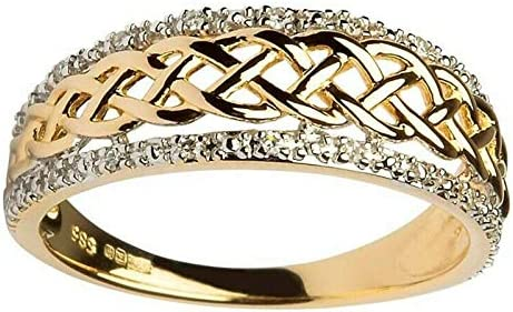 Fashion Women 18K Yellow Gold Filled Band Ring Wedding Jewelry Gift Size 5-10 10