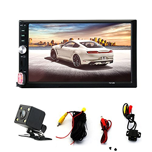Double Din Touch Screen Car Stereo with Bluetooth 7 Inch Car Radio Receiver MP5/MP4/MP3 Player Support FM Radio USB and SDcard with Remote Control (For Screen Touch Car Radios)