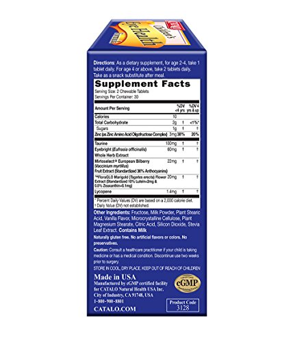CATALO Children's Eye Health Formula - Vision Support with