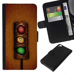All Phone Most Case / Oferta Especial Cáscara Funda de cuero Monedero Cubierta de proteccion Caso / Wallet Case for HTC Desire 820 // Funny Stoplight