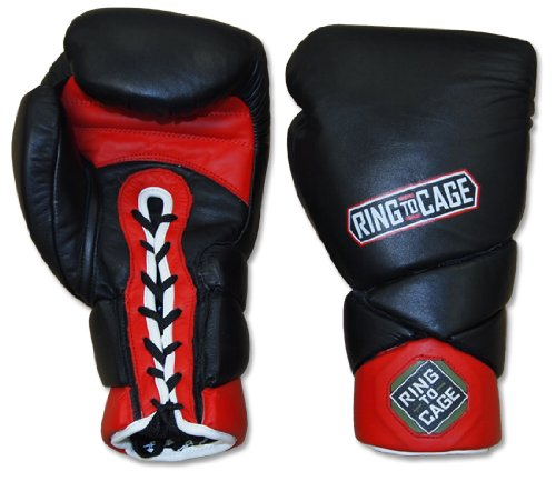 Big Hand Sparring Boxing Gloves - Lace up for Muay Thai, MMA, Kickboxing, Boxing-16oz