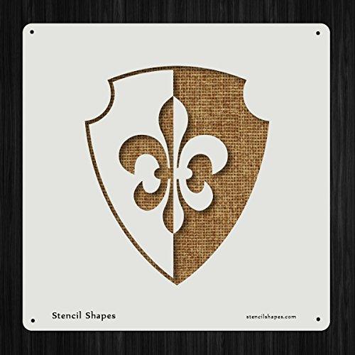 Shield Protection Medieval Guard France Style 19443 DIY Plastic Stencil Acrylic Mylar Reusable