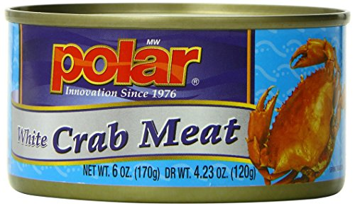 MW Polar Seafood, White Crab Meat, 6-Ounce (Pack of (Polar Oysters)