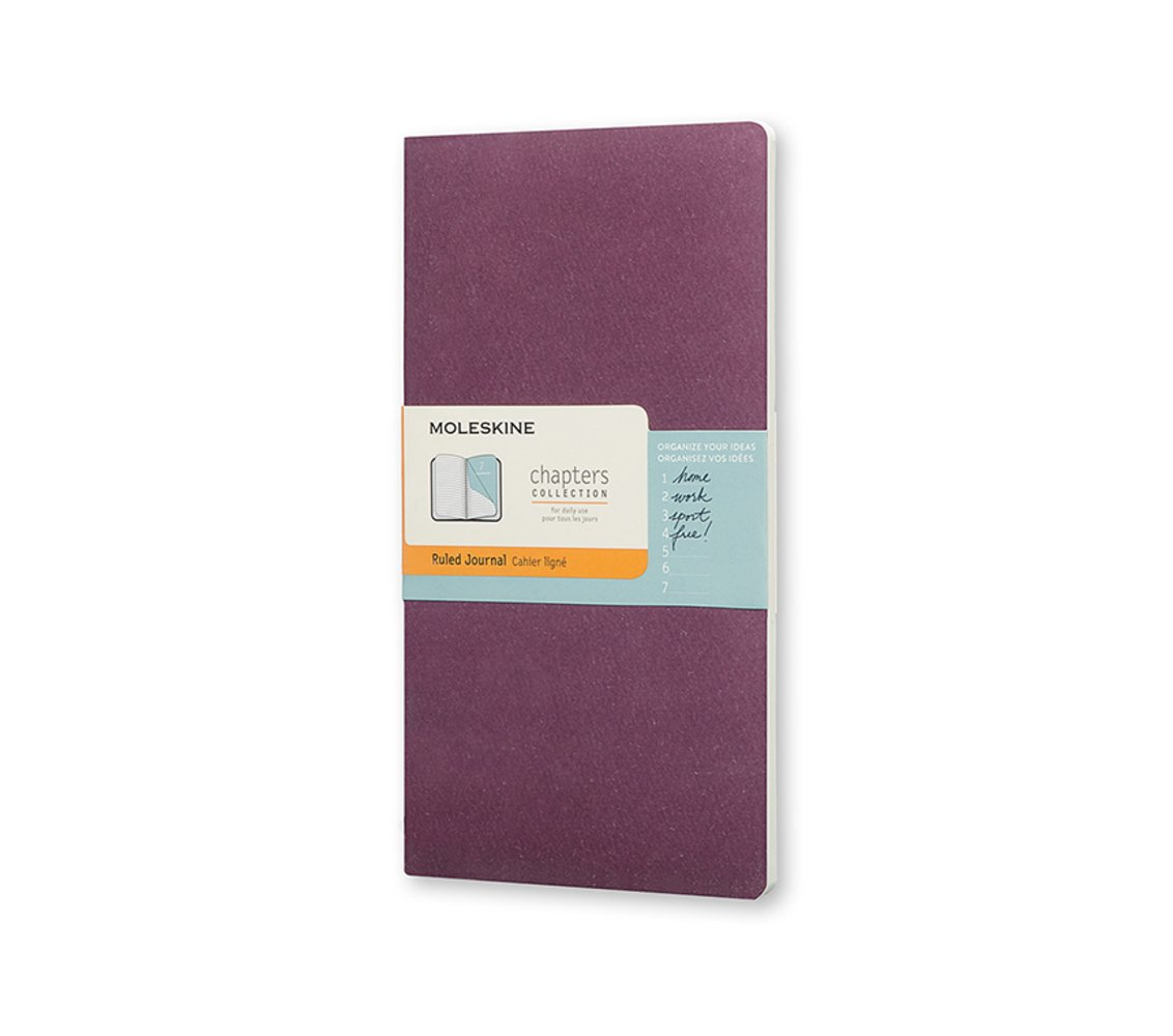 Moleskine Chapters Journal, Slim Large, Ruled, Plum Purple,.