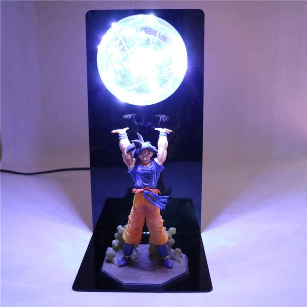 Dragon Ball Lampe Goku Force Bombs Luminaria Lampe de Table,Lumières Décoratives Enfants Bébé Enfants LED Veilleuse Pour Chambre Warm White