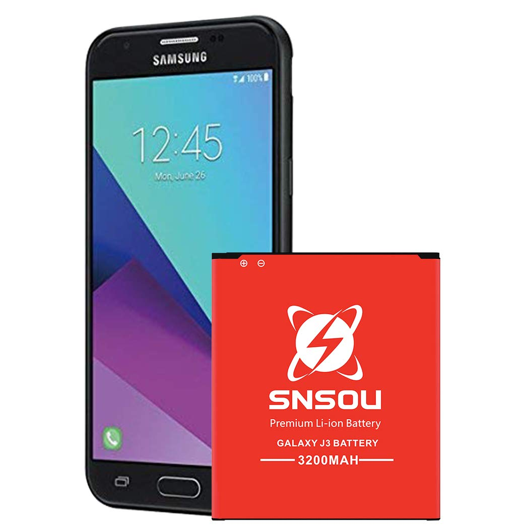 Galaxy J3 Battery, SNSOU 3200mAh Li-ion Battery for Samsung Galaxy J3 J320V J320A J320F J320P J327A J327P EB-BG530BBC EB-BG530BBE/ Galaxy On5 Battery/ Galaxy Grand Prime SM-G530 Battery by SNSOU