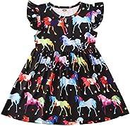 Toddler Place Infant Girls Dress Dinosaur PrintedSkirt Clothing Long Sleeve Baby Sundress Outfits,Baby Dinosau