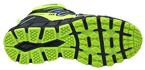 gibra - Zapatillas de running de Material Sintético para hombre azul/verde fluorescente