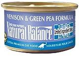 Natural Balance Venison Green Pea Formula Cat Food  3-Ounce Can, My Pet Supplies