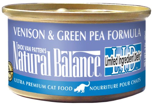 Natural Balance Venison Green Pea Formula Cat Food  3-Ounce Can, My Pet Supplies