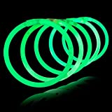 Lumistick 100 Count GREEN 8'' Light-Up Premium GlowSticks/Bracelets in Glowsticks - Comes With Bracelet Connectors - Perfect for Birthdays, Parties, Performances, Halloween & More!