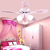 Children's ceiling lamps Fan ceiling light Cartoon Children's room ceiling lamp LED ceiling light,Pink