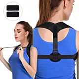 Posture Corrector for Women & Men - Vivibel Adjustable and Comfortable Posture Brace Spinal Shoulder Back Support Posture Trainer for Slouching & Hunching, Pull-belt Design, Include 2 Armpit Pads
