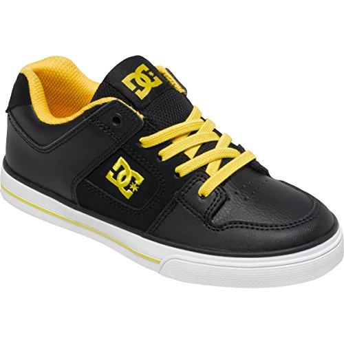DC  PURE ELASTIC, Jungen Sneaker Schwarz Black Yellow FV1