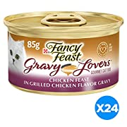 Fancy Feast Gravy Lovers Gourmet Cat Food, Chicken, 3 Ounce (Pack of 24)