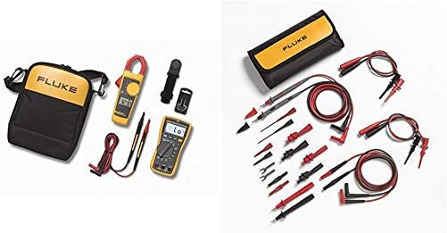 Fluke 117 323 KIT Multimeter and Clamp Meter Combo Kit TL81A Test Lead Set, Deluxe Electronic