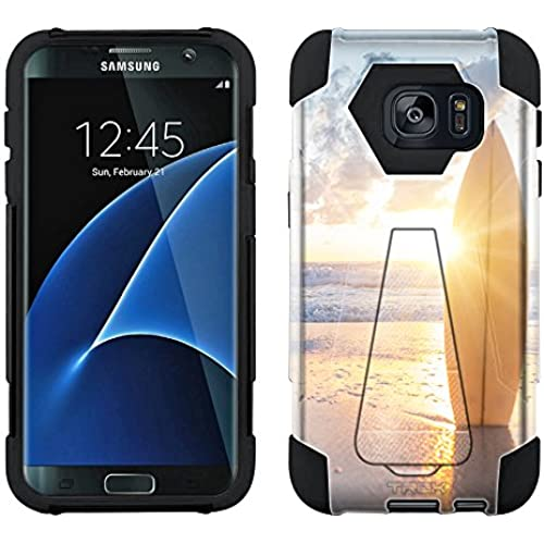 Samsung Galaxy S7 Edge Hybrid Case SurfBoard Sunset 2 Piece Style Silicone Case Cover with Stand for Samsung Galaxy Sales