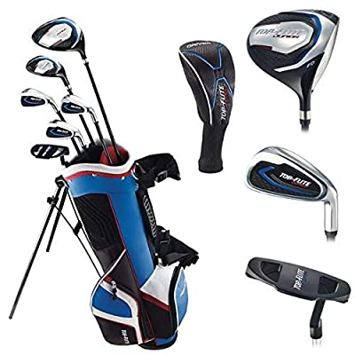 Top Flite Jr. Young Boys Compete Golf Set - Age 9 to 12 Height 53'' and Above - RH/LH