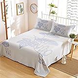 Oasis Hemp Bedding Pastoral Style British Style Bedding Sheet Set Pillowcase Pack of 2, 55% Hemp 45% Organic Cotton - 7637 - Morning glory Pattern 47.2 x 78.7 Inch