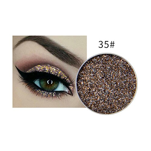 Price comparison product image Fheaven (TM) 15 Colors Available Eyeshadow Glitter Make-up Powder Metallic Shimmer Eye Shadow Palette Highly Shine Pigmented Mineral Cosmetic Makeup (E)