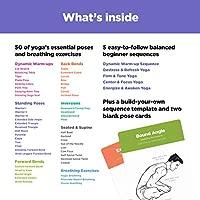 WorkoutLabs Tarjetas plásticas de Yoga con Lengua sánscrito para Principiante Estudio Visual, secuenciación de Clases, práctica con posturas, ...