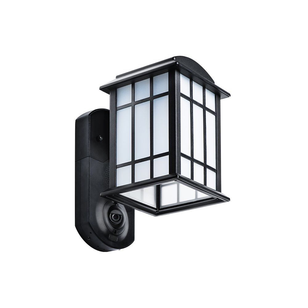 Maximus Video Security Camera & Outdoor Light - Craftsman Black - Works with Amazon Alexa