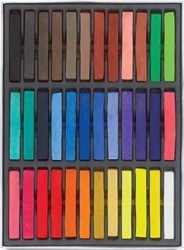 RuiChy Craies pour coloration de cheveux temporaire (24couleurs), 24pcs