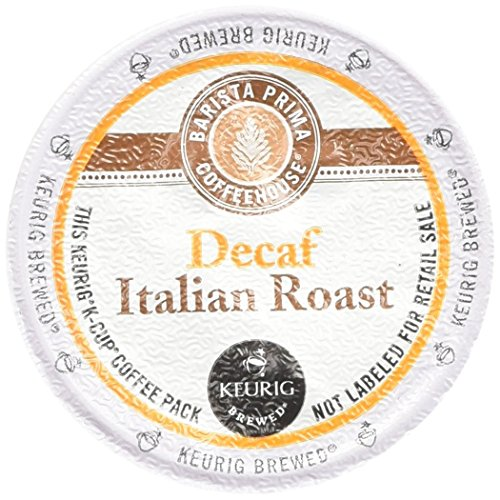 (Keurig Barista Prima Coffeehouse Decaf Italian Roast Coffee K-Cups (48-Count))