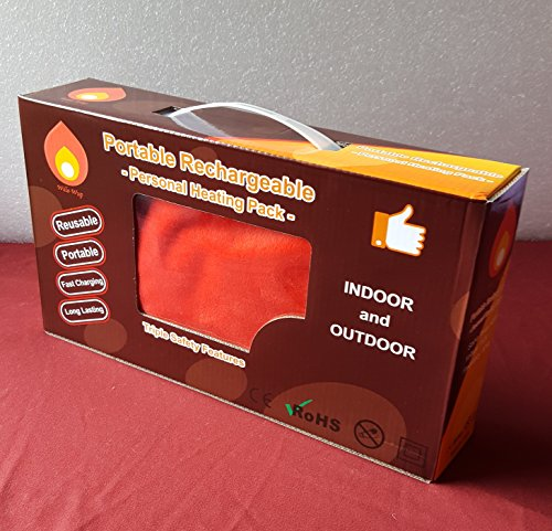 Rechargeable Portable Personal Heating Pad Pack Red Buy